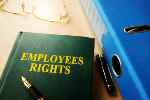 Employees Rights on an office table.v